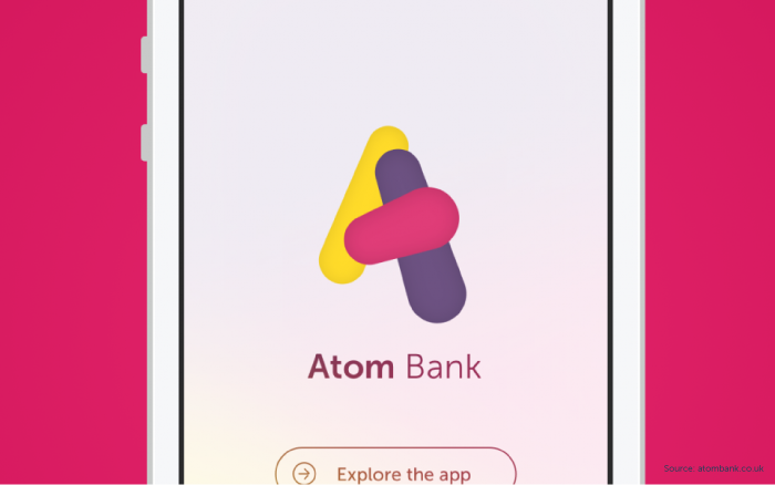 Atom mobile banking app